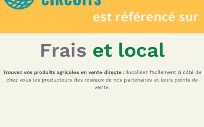 Les boutiques CoopCircuits en vente directe référencées sur la plateforme Frais et local